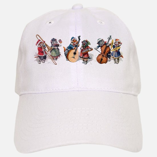 Jazz Cats In the Snow Baseball Baseball Cap