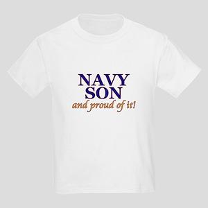 Navy Son & proud of it! Kids T-Shirt