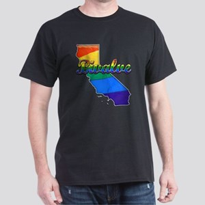 Bivalve, California. Gay Pride Dark T-Shirt