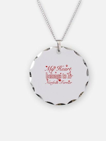 Norfolk Terrier Dog Designs Necklace
