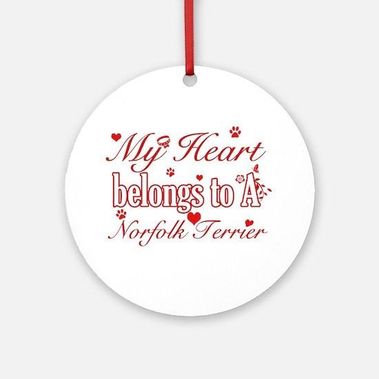 Norfolk Terrier Dog Designs Ornament (Round)