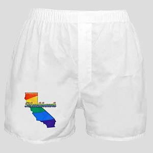 Blackhawk, California. Gay Pride Boxer Shorts