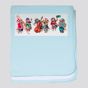 Jazz Cats In the Snow baby blanket