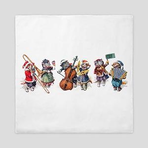 Jazz Cats In the Snow Queen Duvet