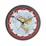 Flat earth Wall Clocks