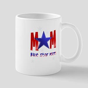 A Blue Star Mom-lettered Mug