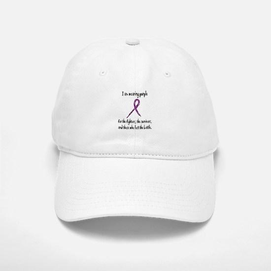 I Am Wearing Purple Baseball Baseball Cap