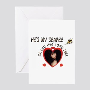SHE'S/HE'S MY SEABEE, ME LUV Greeting Card