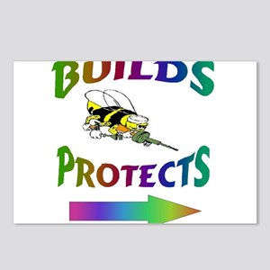 BUILDS & PROTECTS Postcards (Package of 8)