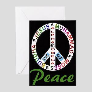 ALPHA OMEGA - PEACE Greeting Card