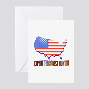 EXPERT TERRORIST HUNTER Greeting Card