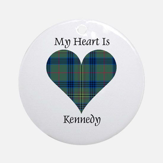 Heart - Kennedy Ornament (Round)