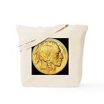 Black-Gold Indian-Buffalo Tote Bag