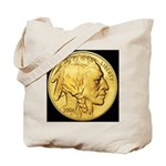 Black-Gold Indian-Buffalo Tote Bag