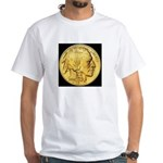 Black-Gold Indian-Buffalo White T-Shirt