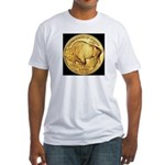 Black-Gold Buffalo-Indian Fitted T-Shirt