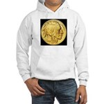 Black-Gold Indian-Buffalo Hooded Sweatshirt
