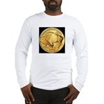 Black-Gold Buffalo-Indian Long Sleeve T-Shirt