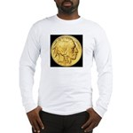 Black-Gold Indian-Buffalo Long Sleeve T-Shirt