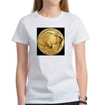 Black-Gold Buffalo-Indian Women's T-Shirt