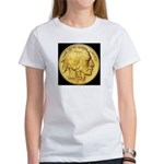 Black-Gold Indian-Buffalo Women's T-Shirt