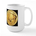 Black-Gold Indian-Buffalo Large Mug