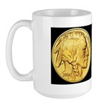 Black-Gold Indian-Buffalo Large Mug