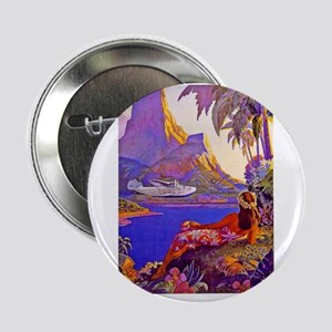 """Fly to the South Seas 2.25"""" Button"""