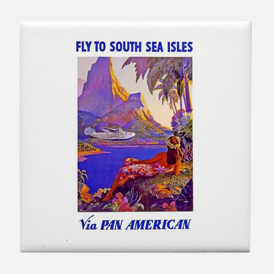 Fly to the South Seas Tile Coaster