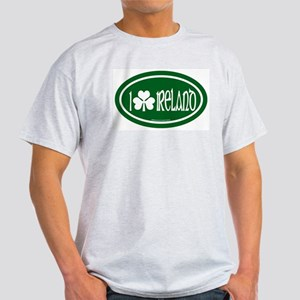I Love Ireland 2 Ash Grey T-Shirt
