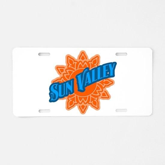 Sun Valley Orange Sun Aluminum License Plate