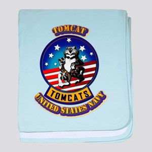 US - NAVY - Tomcat baby blanket