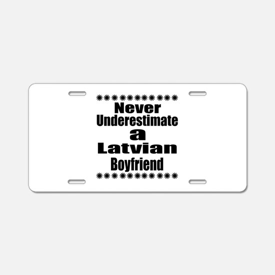 Never Underestimate A Latvi Aluminum License Plate