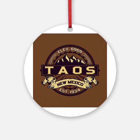 Taos Sepia Ornament (Round)