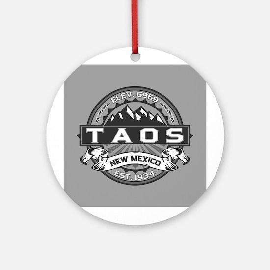 Taos Grey Ornament (Round)