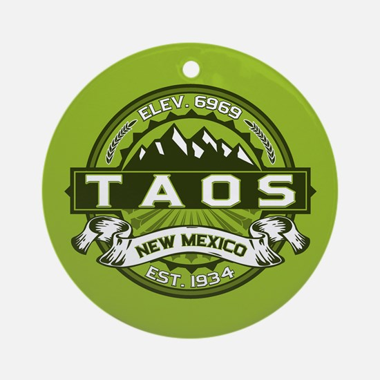 Taos Green Ornament (Round)