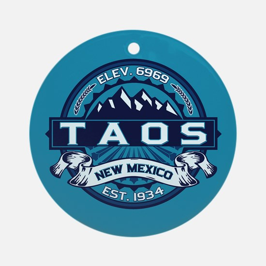 Taos Ice Ornament (Round)