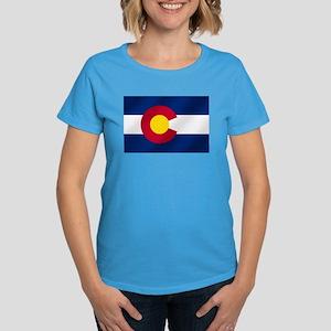 Flag of Colorado Women's Dark T-Shirt