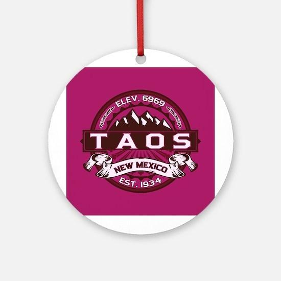 Taos Raspberry Ornament (Round)