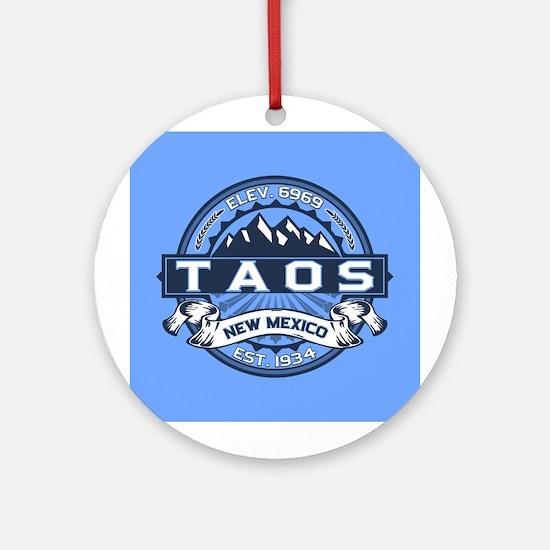 Taos Blue Ornament (Round)