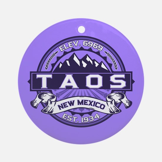Taos Violet Ornament (Round)