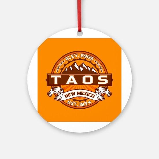 Taos Tangerine Ornament (Round)