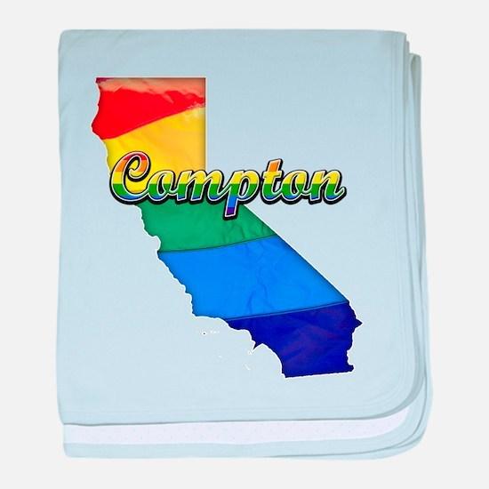 Compton, California. Gay Pride baby blanket