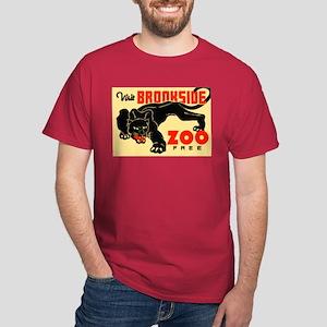 Brookside Zoo WPA Poster Dark T-Shirt