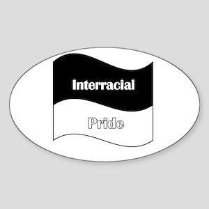 Interracial/Biracial Pride Oval Sticker