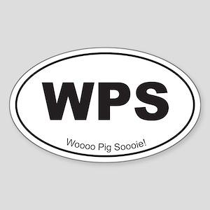 Black WPS Sticker (Oval)
