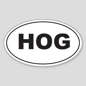 Black HOG Sticker (Oval)