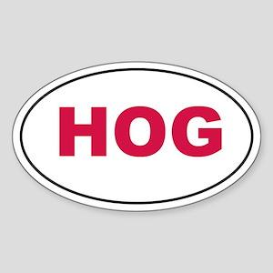 Red HOG Sticker (Oval)