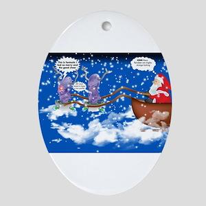 Alien Reindeer Ornament (Oval)