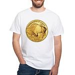 Wy-Gold Buffalo-Indian White T-Shirt